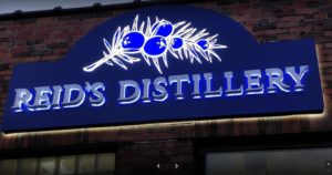 Reid's distillery custom sign
