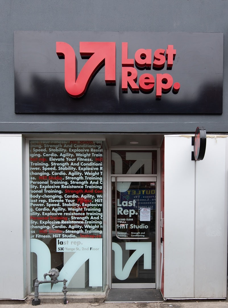 v last rep perfect store front by signarama toronto