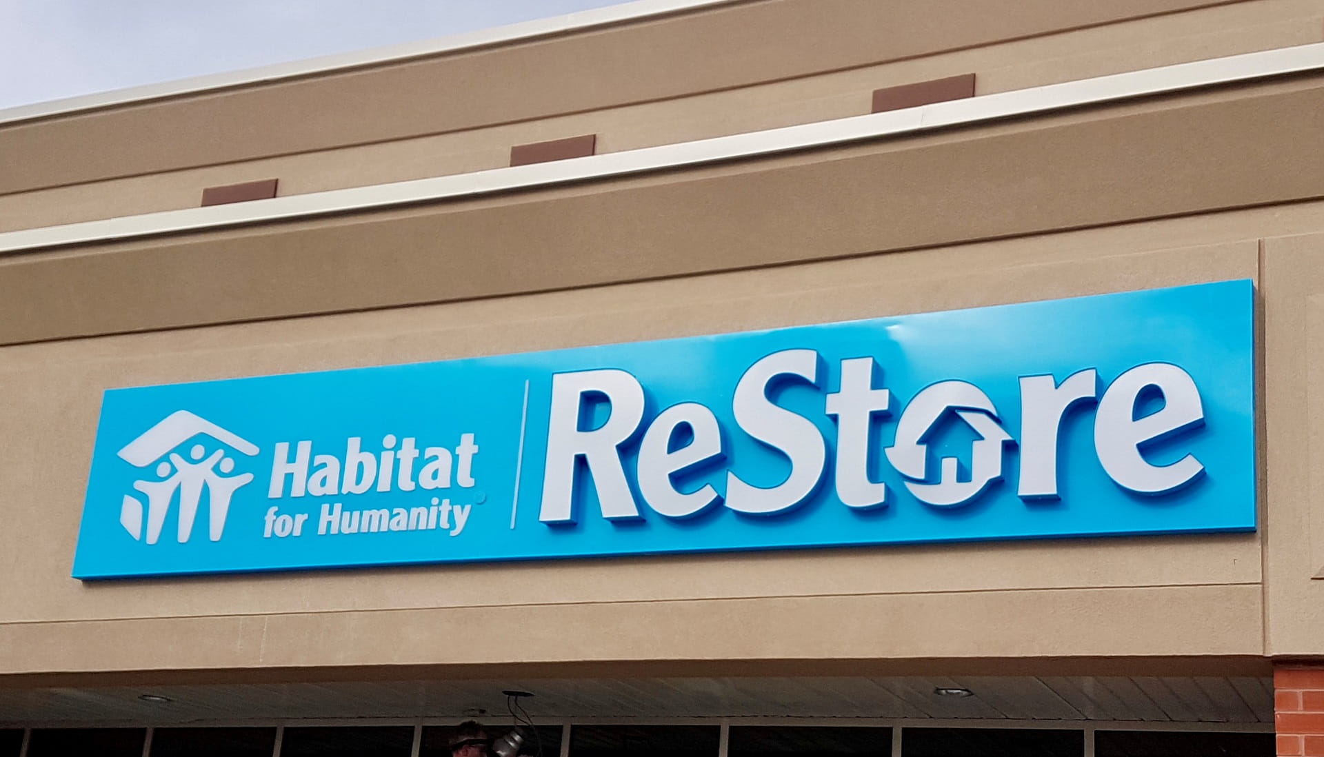 Habitat for Humanity storefront sign by signarama toronto