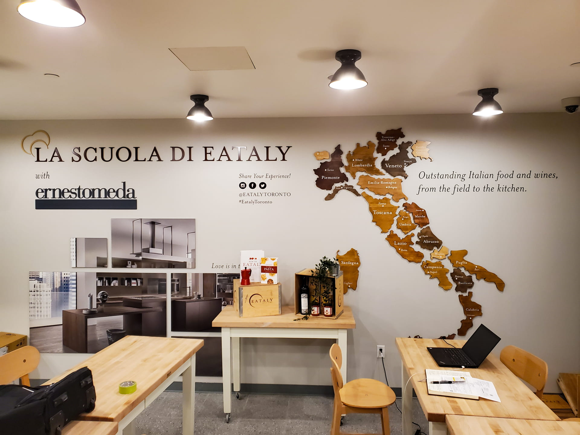 Eataly Restaurant Sign installation by Signarama Toronto