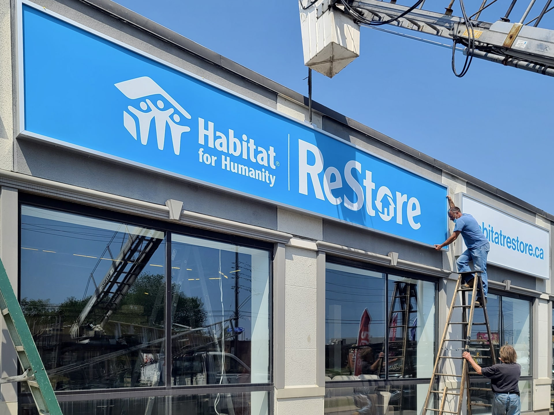 Habitat For Humanity Illuminated box signs by Sigarama Toronto Bay Street