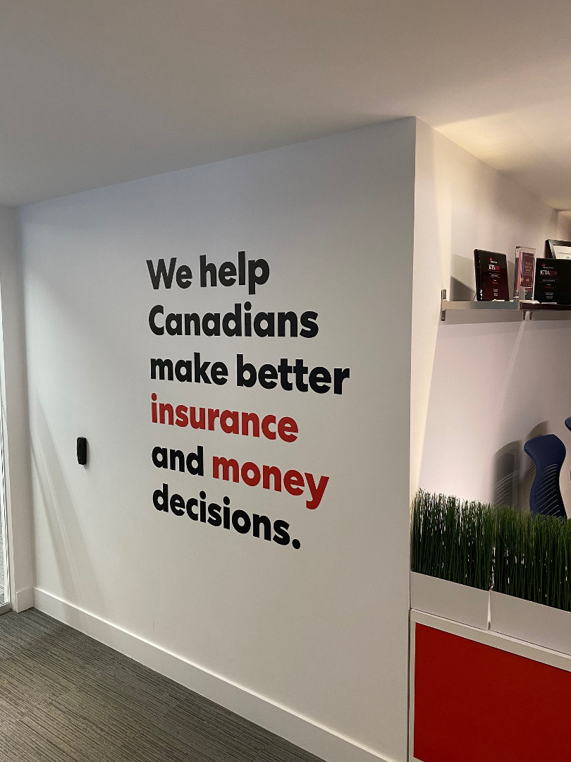 RatesdotCa rebranding wall graphics by Signarama Toronto