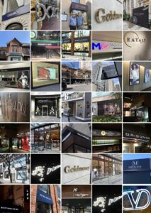 Yorkville retail Signs by Sign A Rama Toronto
