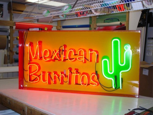 minMexican Burittos on backer box