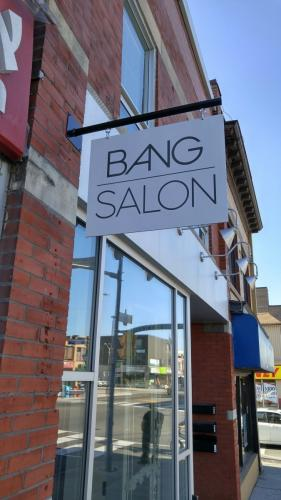 Bang Salon-Aluminum blade sign with vinyl graphics-min