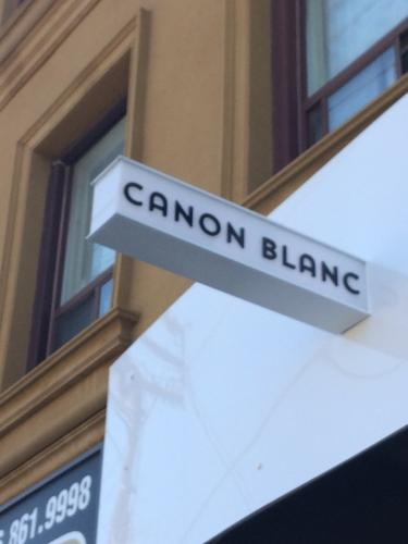 Canon Blanc-illuminated Blade sign-2-min