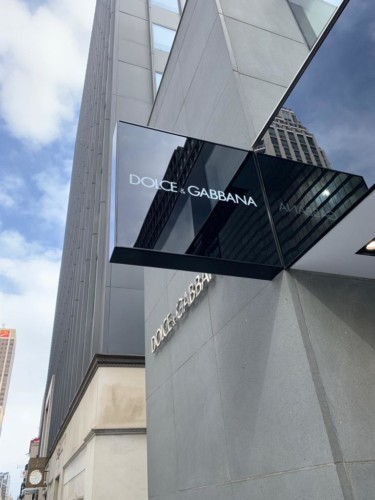 Dolce & Gabbana Glass blade sign by Signarama Toronto