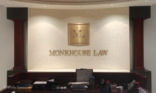 Monkhouse law lobby sign by Signarama Toronto
