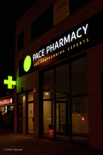 Pace Pharmacy illuminated Channel letters by Signarama Toronto