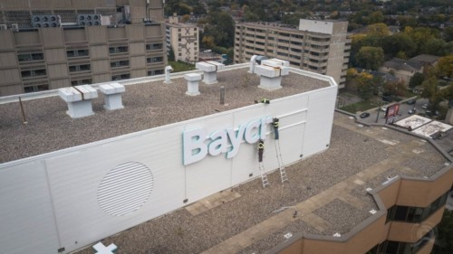 Baycrest roof sign by Signarama Toronto