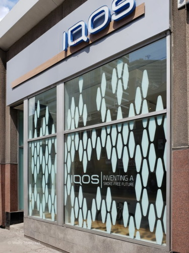 iqos window graphics by Signarama Toronto