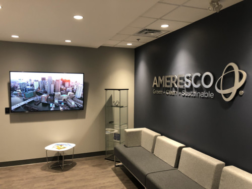 Ameresco lobby sign by Signarama Toronto
